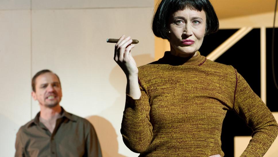 Maik Solbach, Anja Laïs  in »Die Physiker« © Sandra Then
