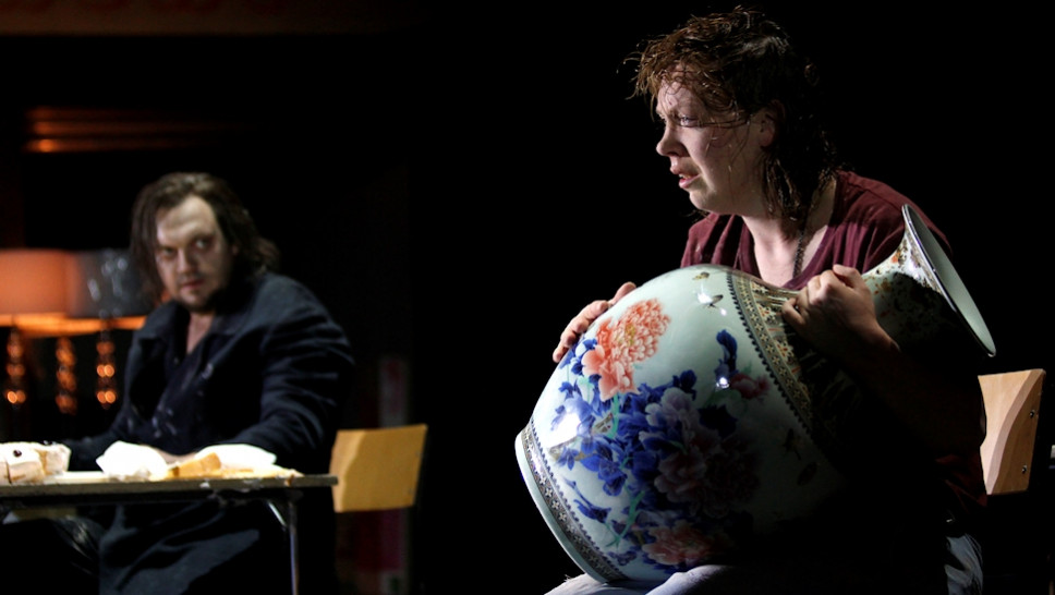 Charly Hübner, Lina Beckmann in »Der Idiot« © Klaus Lefebvre