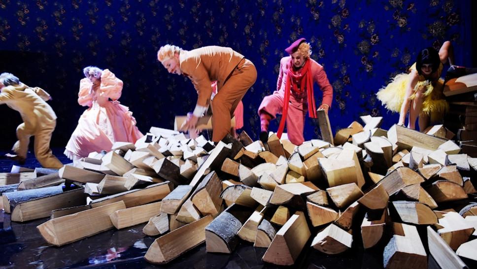»Die Kassette«: Michael Weber, Anja Laïs, Götz Schubert, Bastian Reiber, Karoline Bär © Thomas Aurin, 2015