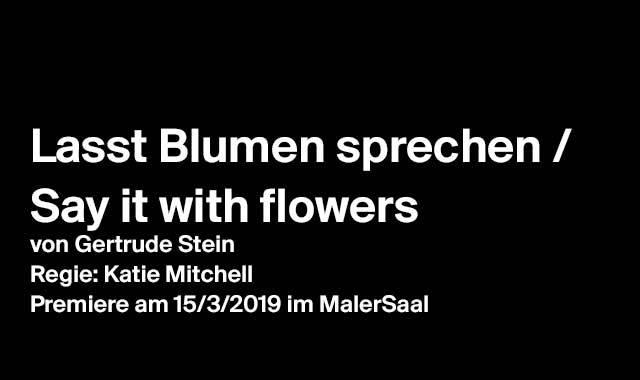 Lasst Blumen sprechen