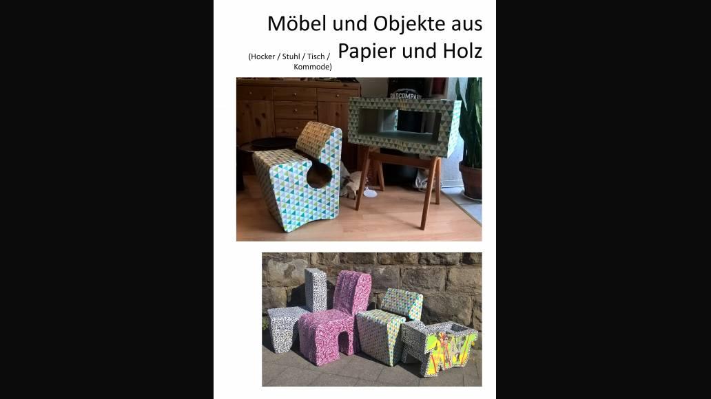 Möbel und Objekte aus Papier und Holz