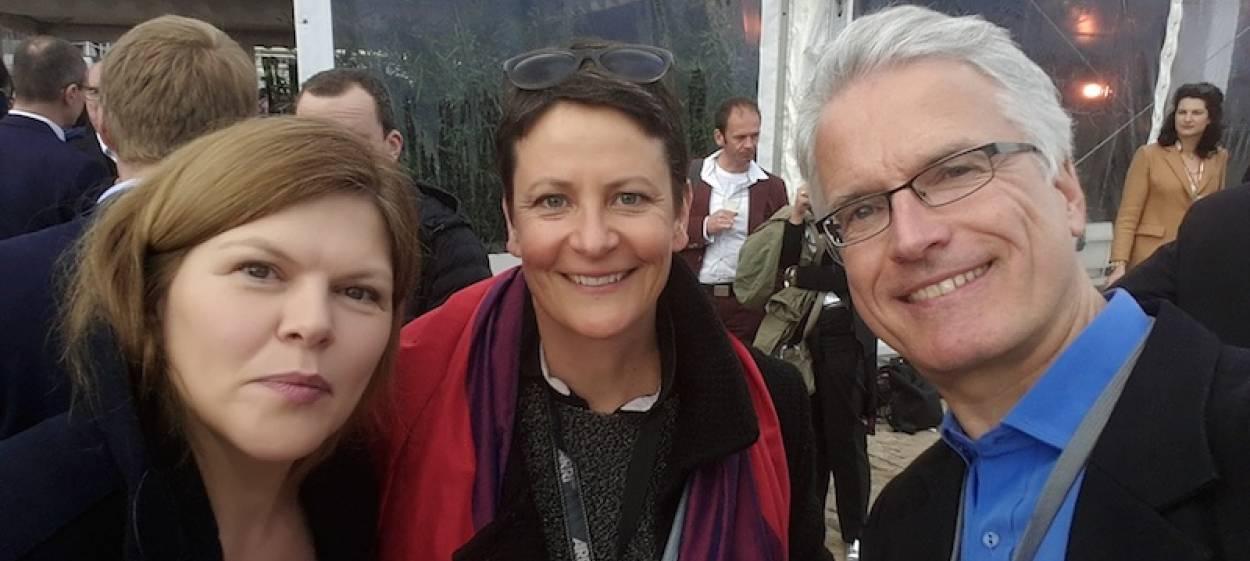 Sabine Pollmeier, Anja Unger, Björn Jensen at the