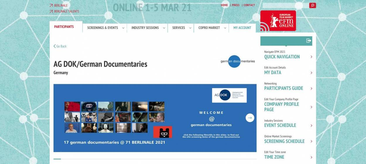71 BERLINALE — virtual booth @ EFM 2021