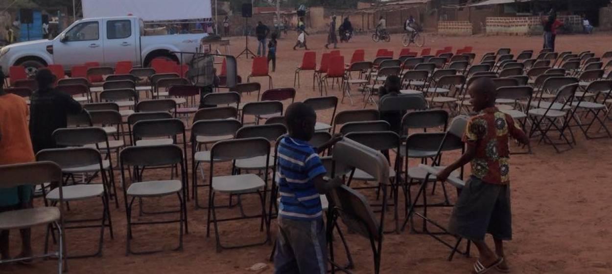 getting ready for the 5th KOUDOUGOU Doc in Burkina Faso