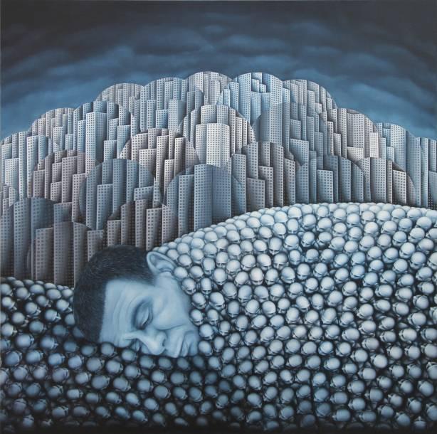 """""""131"""", 2015, 80 cm x 80 cm, Öl auf Leinen"""