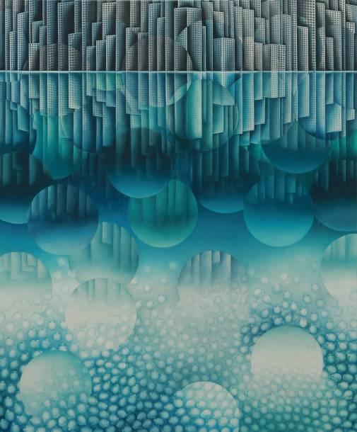 """""""144"""", 2015, 120 cm x 100 cm, Öl auf Leinen"""