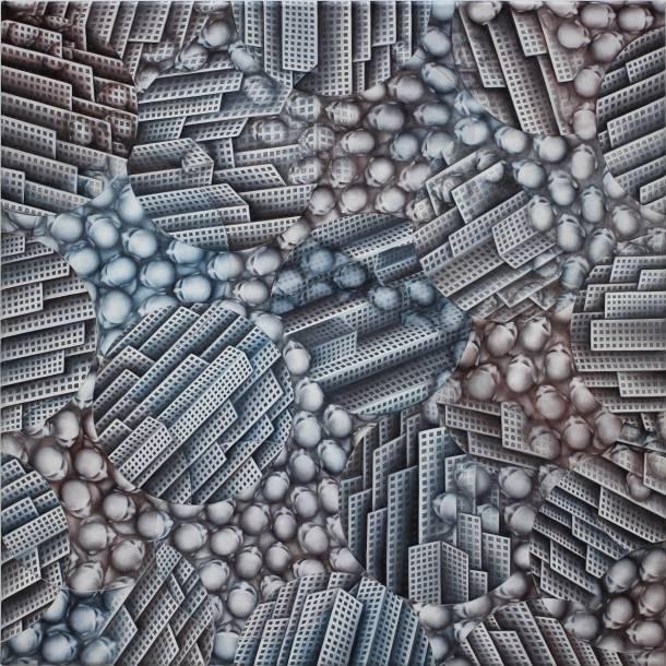 """""""120-5"""", 2016, 50 cm x 50 cm, Öl auf Leinen"""