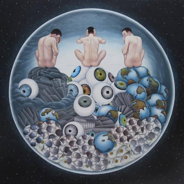"""""""103"""", 2012, 70 cm x 70 cm , Öl auf Leinen"""