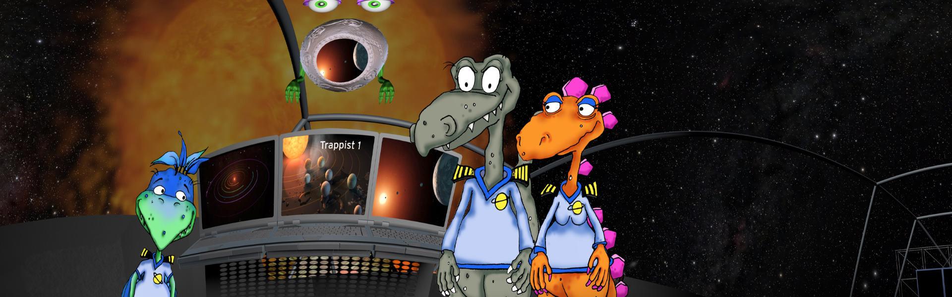 Dinos im Weltall Header
