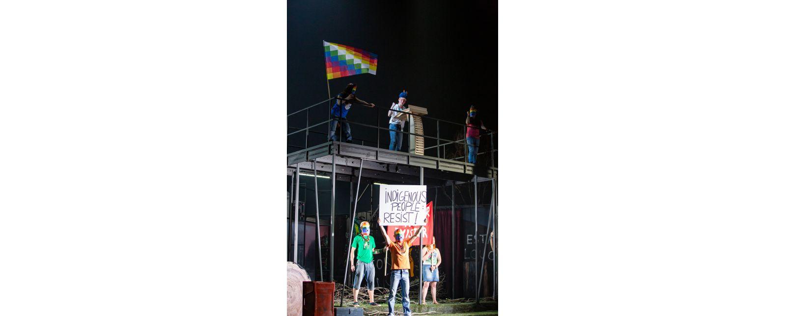 DIDO UND AENEAS // Yulianna Vaydner / Inga Schäfer / Anja Steinert / Statisterie des Theater Freiburg // Foto: Laura Nickel