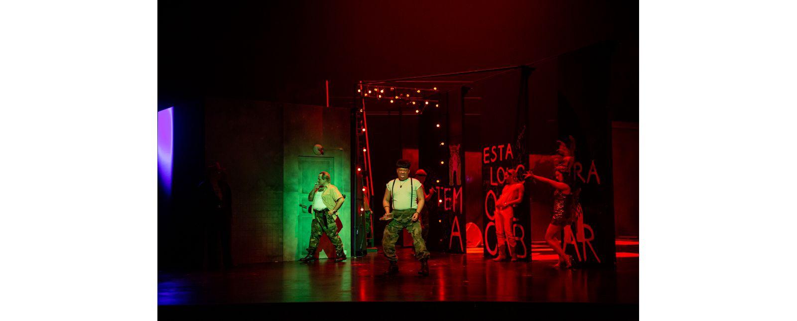 DIDO UND AENEAS // Roberto Gionfriddo / Junbum Lee / Pascal Hufschmid / Janina Staub / Statisterie Theater Freiburg // Foto: Laura Nickel