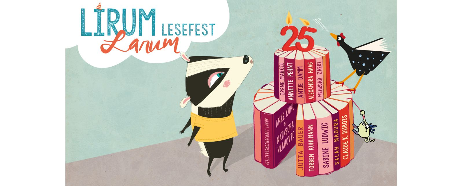 Lirum Larum Lesefest 2018 //  Illustration: Ana Castro Carrancho