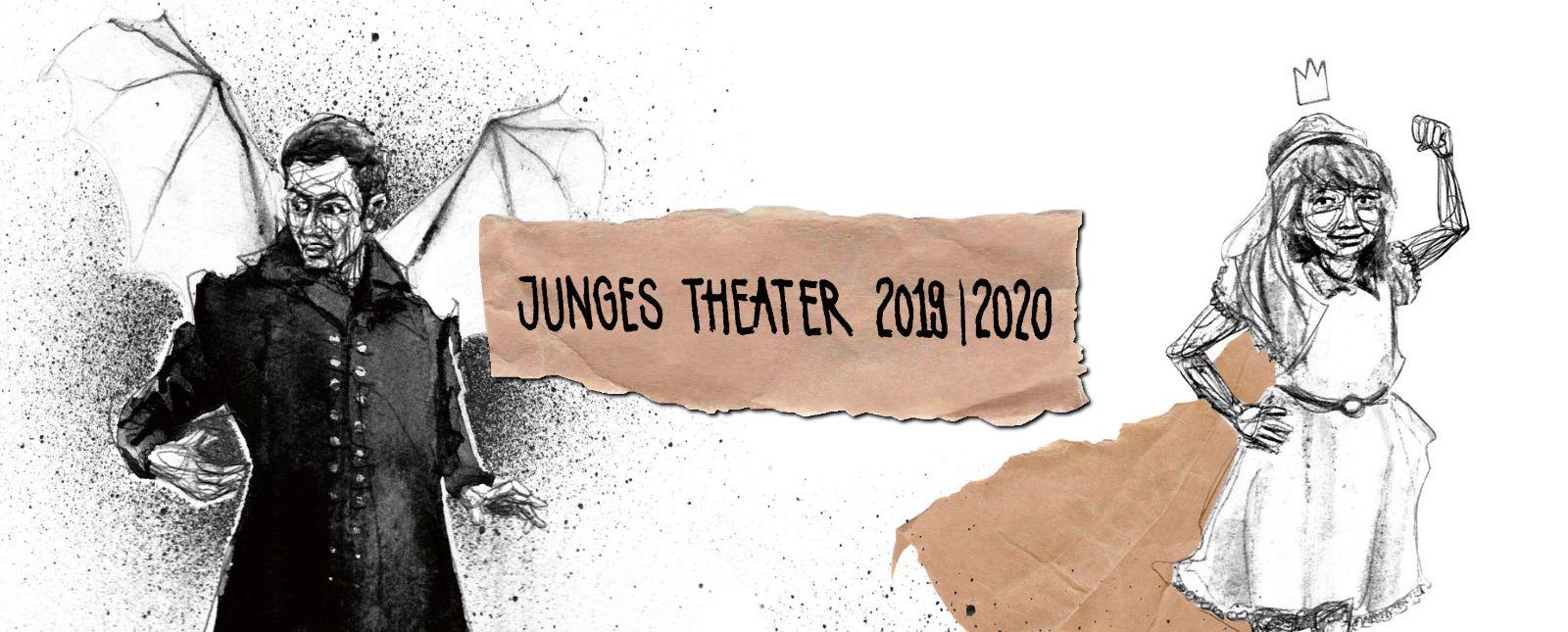 Junges Theater Freiburg // Spielzeit 2019/2020   // Illustration: Michael Genter
