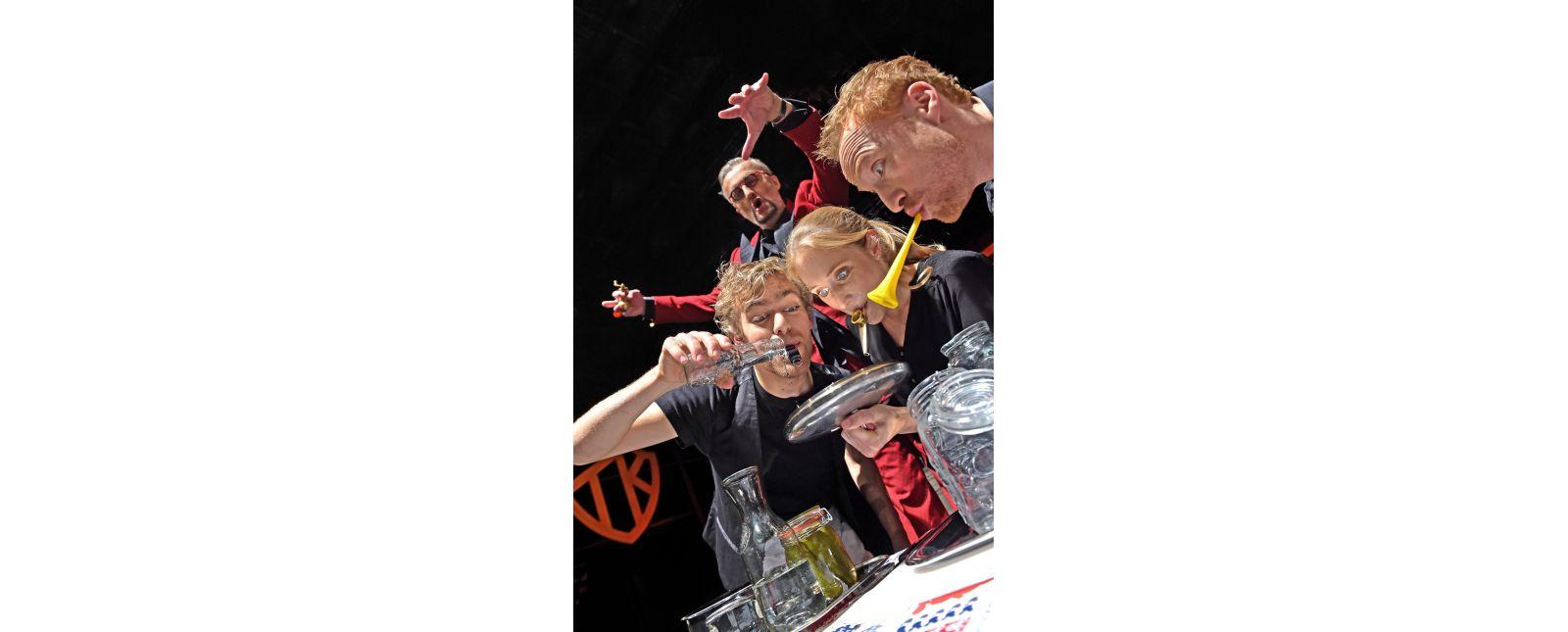 Teufels Küche // Justin Auer, Klaus Simon, Mariella Bachmann, Philipp Schiemenz // 2017 // Foto: Maurice Korbel