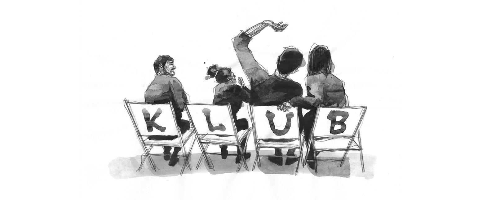 Der Klub der Schlauspieler_innen //  2019 // Illustration: Michael Genter