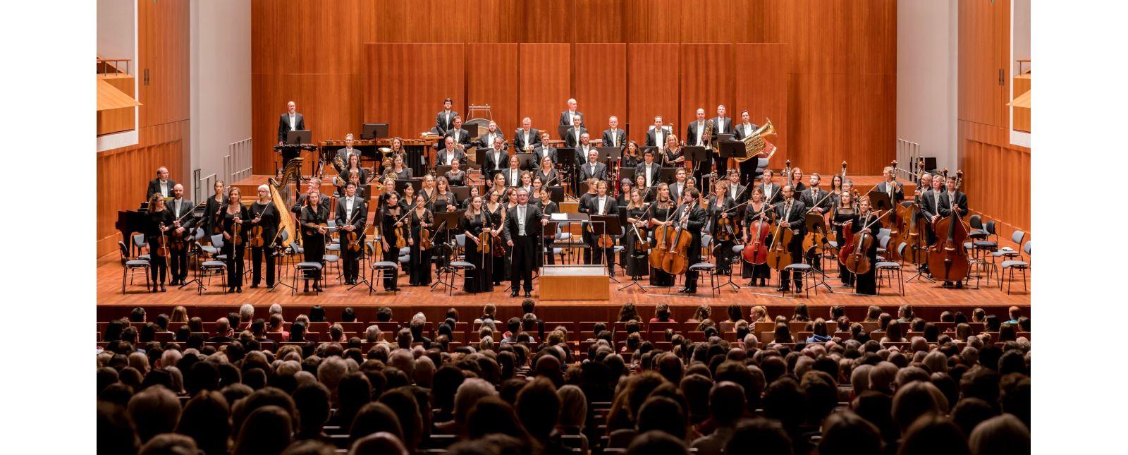 Das Philharmonische Orchester Freiburg //  Foto: Britt Schilling
