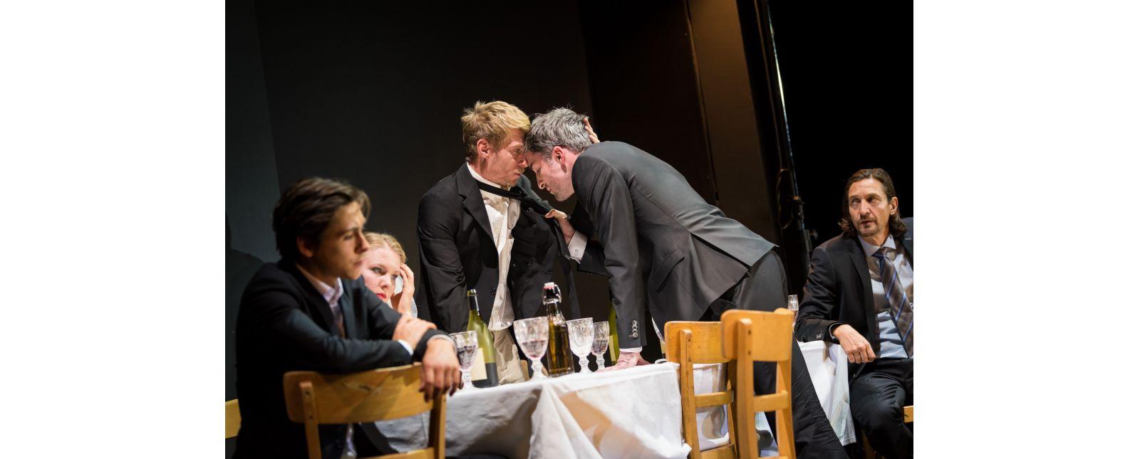 Das Nibelungenlied // Lukas Hupfeld // Janna Horstmann // Martin Hohner // Tim Al-Windawe // Victor Calero //  2018 //  Foto: Marc Doradzillo