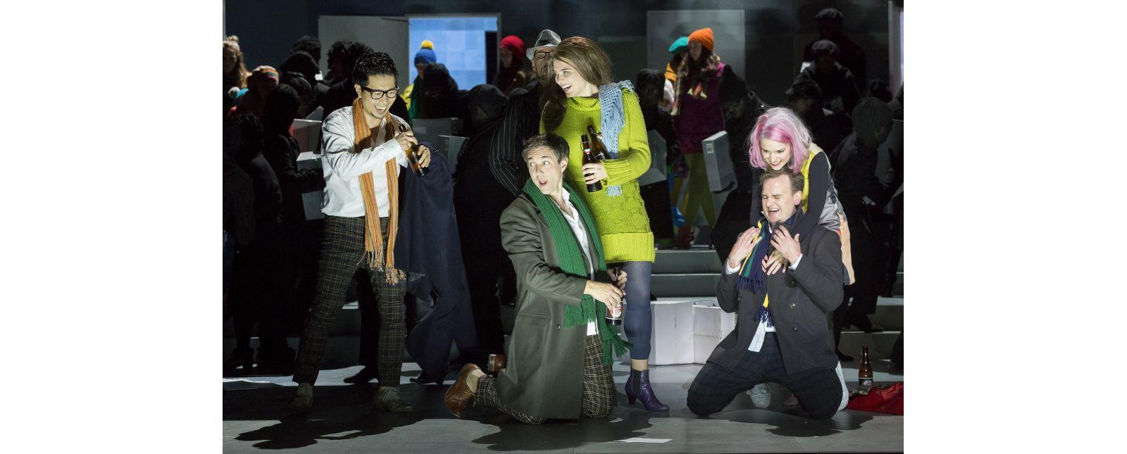 La Bohème // Jin Seok Lee // Harold Meers // Solen Mainguené // Michael Borth // Katharina Ruckgarber // Chor // 2018 // Rainer Muranyi