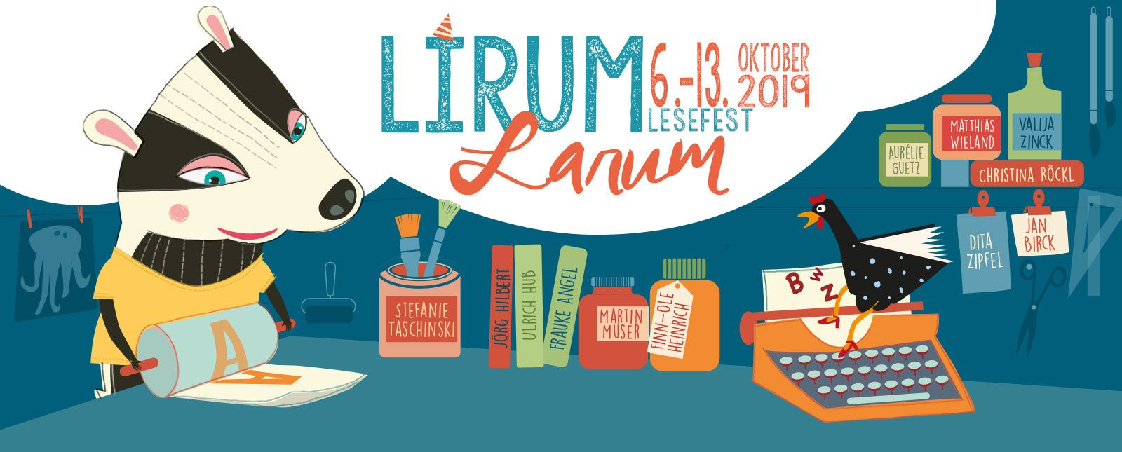 Lirum Larum Lesefest //  2019 // Illustration: Ana Castro Carrancho