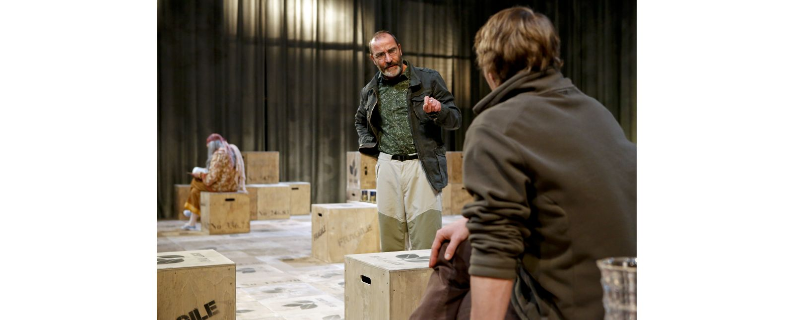 Onkel Wanja // Margot Gödrös // Henry Meyer // Martin Hohner //  2019 // Foto: Birgit Hupfeld