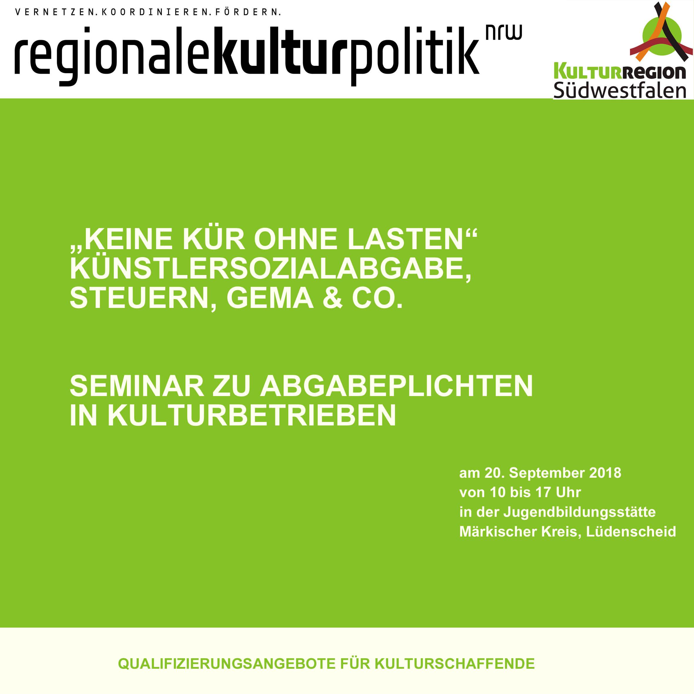 Seminar zu Abgabepflichten in Kulturbetrieben | Author