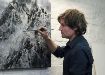 Jens Rausch im Atelier