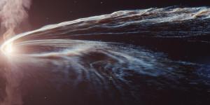 Schwarzes Loch schreddert Stern