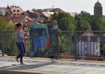Transport über die Friedensbrücke Bautzen