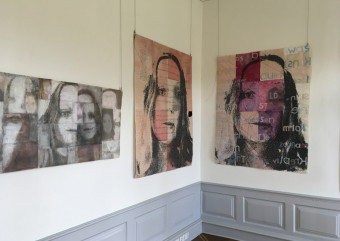 Blick in die Ausstellung von Gisela Hafer
