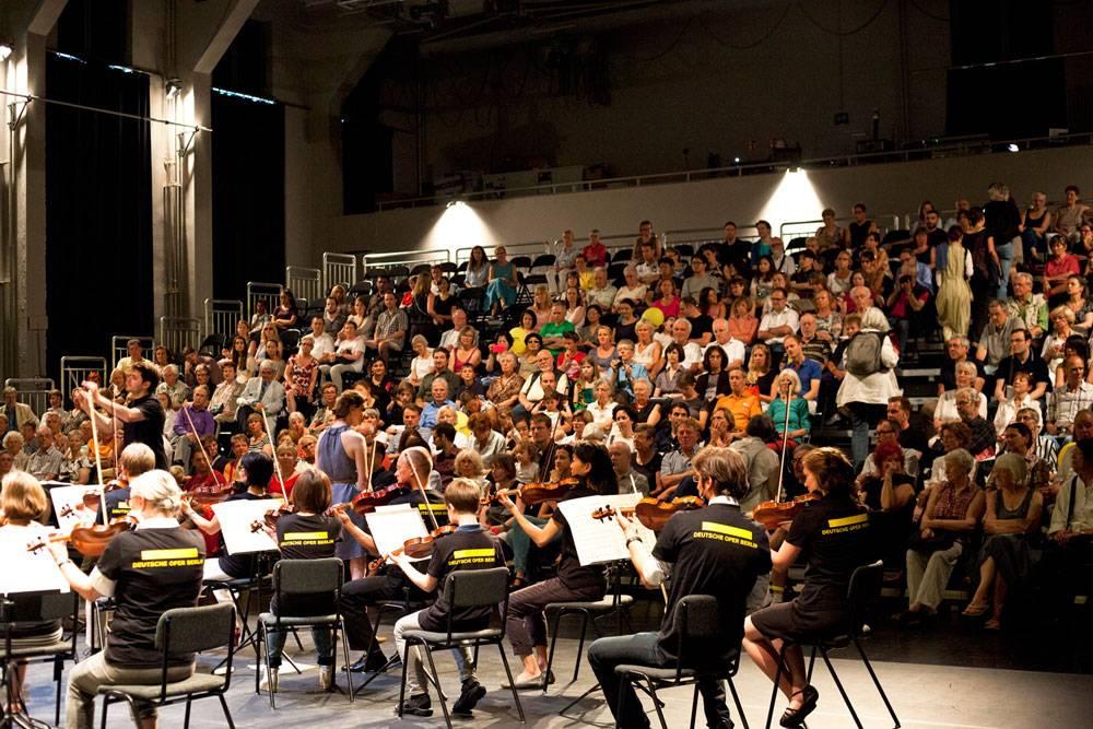 Während des Konzerts des Mitmach-Orchesters