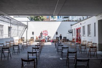 Jazz hinterm Haus // © 2021 Janning Trumann