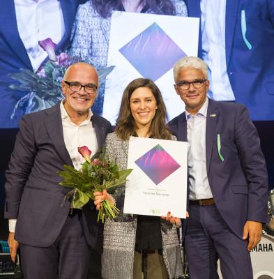 """Veronika Morscher bei ihrem Auftritt im Rahmen des Jazzfest Bonn 2019 mit """"Of Cabbages And Kings"""" // © Nathan Dreesen"""